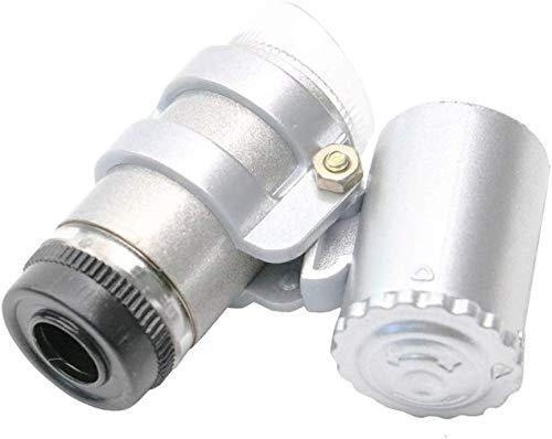 Onbekend 45 keer zaktype verstelbare focus-band LED witte juweel spiegel antieke speciale vergrootglas microscoop