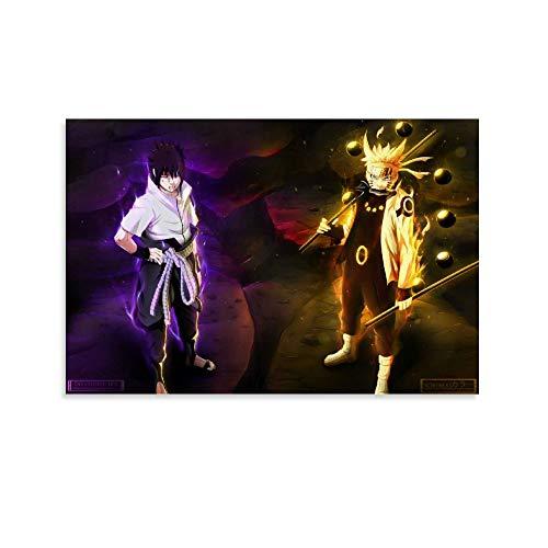 Póster de Naruto Ninja Pintura de Anime Japonés Arte de Pared Niño Dormitorio Cuadro Decorativo Lienzo Arte de Pared Arte de Sala de Estar Pósters de Dormitorio Pintura 20 x 30 cm