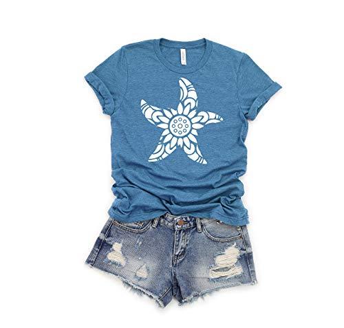 Starfish Shirt, Ocean T shirt, Beach Shirt, Unique Starfish Shirt