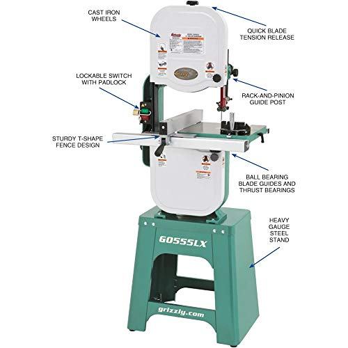 "Grizzly Industrial G0555LX - 14"" Deluxe Bandsaw"
