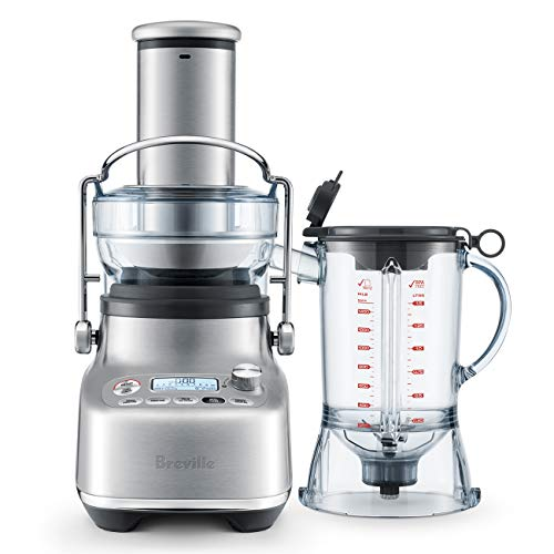 The Breville 3X Bluicer Pro, Brushed Stainless Steel Blender & Juicer in one, BJB815BSS1BU