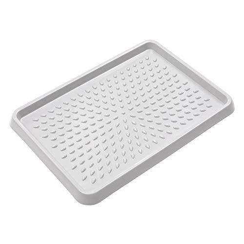 BranQ - Home essential BranQ Schuhablage aus Kunststoff, PP, Hellgrau, 54 x 38,5 x 3 cm (LxBxH)