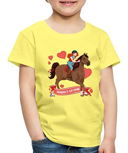 Schleich Horse Club Hannah & Cayenne reiten aus Kinder Premium T-Shirt, 122-128, Gelb