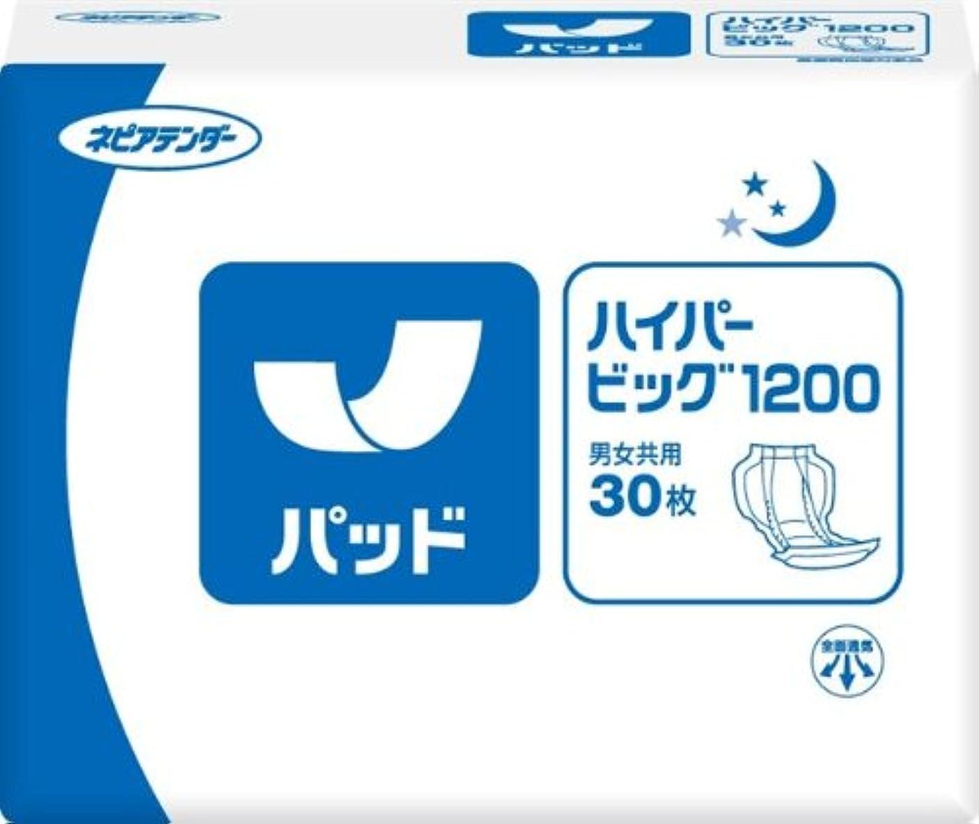 砂漠指紋蒸発するネピアテンダー 尿とりハイパービッグ1200 30枚 大人用紙おむつ 介護用品
