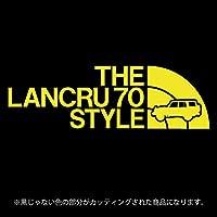 ランドクルーザー70(ランクル70)ステッカー THE LANCRU 80 STYLE【カッティングシート】パロディ シール(12色から選べます) (黄色)