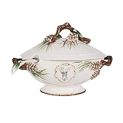 Fitz and Floyd Forest Frost Soup Tureen, Standard