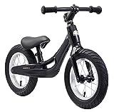 BIKESTAR Bicicleta sin Pedales de magnesio (Muy Ligero!) para niños y niñas 3-4 años | Bici con Ruedas de 12' Edición Cruiser | Negro