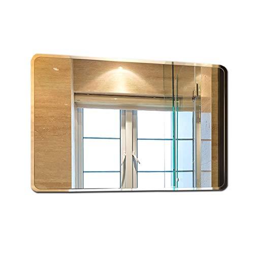 AYYEBO Rectangular Espejo Pared para Baño Espejo Tocador Sin Marco Pulido Biselado para Sala Estar Dormitorio Entrada (Size : 70x90cm)