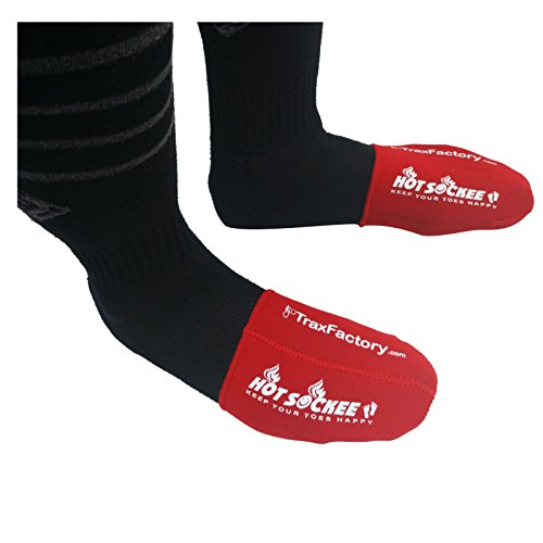 Hot Sockee - Neoprene Toe Warmers - Worn Inside Shoes or Boots - 3 Sizes - Cycling, Hiking, Winter Sports, Camping, Work & Construction Boots