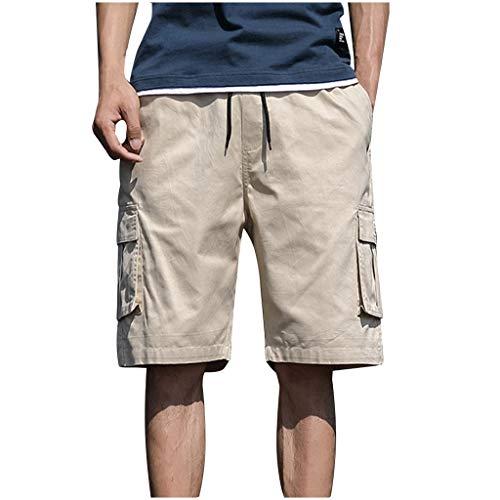 Heren zomer in de vrije natuur casual patchwork overalls plus size sport shorts broek short joggingbroek vrijetijdsbroek panty Medium kaki
