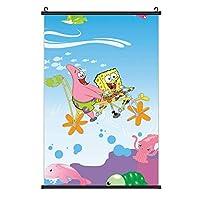 """スポンジの赤ちゃん ポスター用の素晴らしい漫画が付いている壁の装飾の掛かるポスターは写真を印刷します写真地図の巻物およびキャンバスの芸術作品 16""""×24"""""""