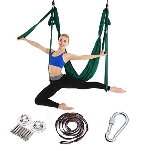 Générique Aerial Yoga Swing Parachute Aerial Yoga Hamac Volant Antigravité Yoga Inversion Fitness Hamac Yoga Danse Aérienne Balançoire Tissu Stretch Durable Yoga Hamac Nylon,2