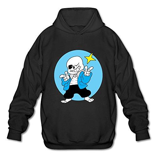 TTATT Men's Undertale Skeleton Sentry San Sport Hoodie Black
