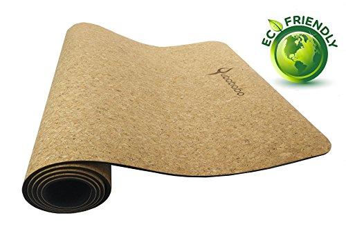 QUBABOBO Esterilla de Yoga TPE + Corcho Antideslizante para Pilates,...