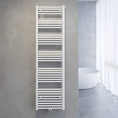 SONNI Handtuchtrockner Heizkörper Bad Mittelanschluss Handtuchwärmer Badheizkörper Weiß Gerade 50 * 180cm