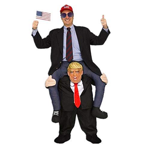 YanLin Comprar Disfraz De Adulto del Disfraz De La Mascota del Presidente Trump Cosplay Ride on Me