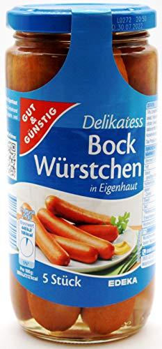 Gut und Günstig Delikatess Bock-Würstchen, 12er Pack (12 x 380g)