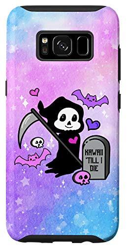 Galaxy S8 Pastel Goth Grim Reaper Kawaii Bat Skull Grave Chibi Anime Case