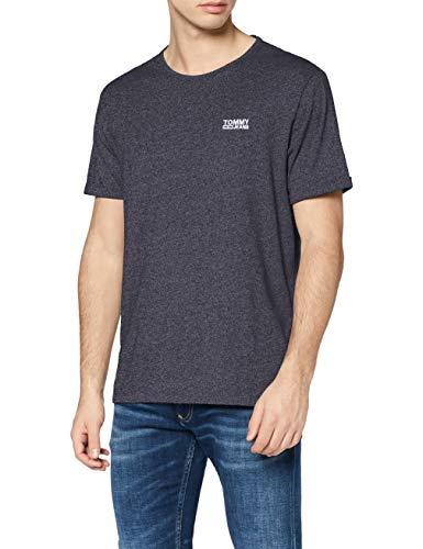 Tommy Jeans Herren Modern Jaspe Kurzarm T-Shirt Blau (Black Iris 002) X-Large (Herstellergröße: XL)