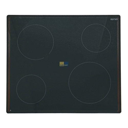 Whirlpool Ignis 481010623706 ORIGINAL Glaskeramikplatte Glasplatte Ersatzplatte mit aufgeklebtem Befestigungsrahmen AKL4990NE Kochfeld Kochmulde