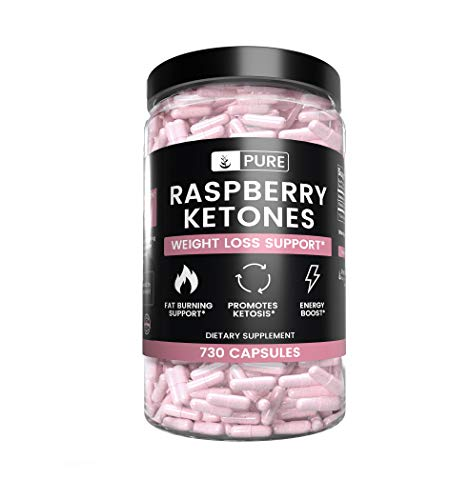 Natural Raspberry Ketone, 730 Capsules, 8-Month Supply, No Stearate or Rice Filler, Antioxidant-Rich, Potent, Made in The USA, 1050mg Pure Raspberry Ketone with No Additives