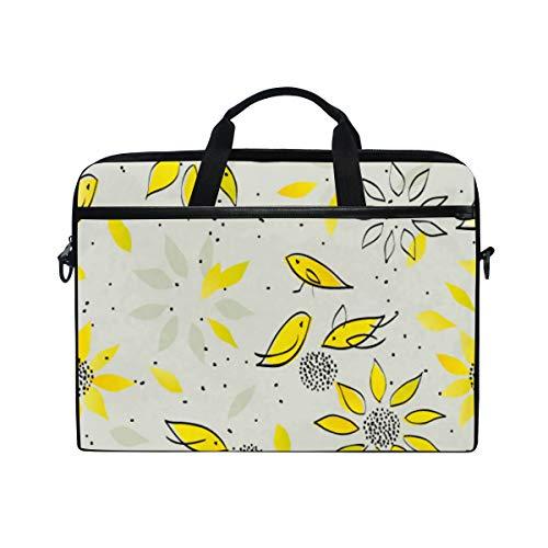 SIONOLY 15-15.4 inch Laptop Tasche,Vögel, welche die Sonnenblumensamen nahtlos entzückend picken,Neue tragbare Computer Messenger Satchel Aktentasche Arbeit Umhängetaschen 15-15.4\'\'