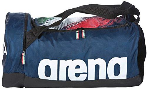 Arena Fast Duffle Fin Italia, Borsa Unisex Adulto, Navy Bianco, Taglia Unica