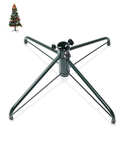Pied de sapin de Noël en fer Ouvin 50cm, diamètre 3,2 cm, coussin en caoutchouc avec vis , Métal, Green, Taille L