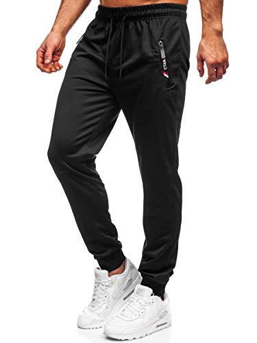 BOLF Herren Sporthose Jogginghose Trainingshose Fußballhose Fitnesshose Jogger Sweathose Jogpants Sweatpants Beinabschluss Pants Modelle und Farben Must JX9516 Schwarz L [6F6]