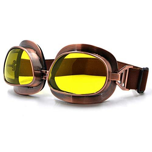 Outdoor bril Retro Vintage Motorbril Motorfiets Vliegende Scooter Aviator Helm Bril Outdoor Sport Eyewear Offroad Goggle