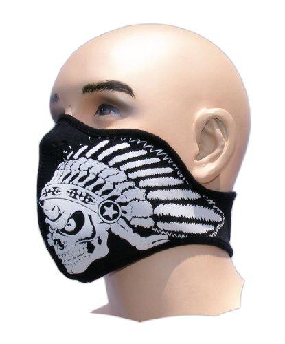Biker Tattoo Motorrad Mundschutz Maske Neopren Feinstaubfilter Snowboard Ski Extrem Sport Paintball Totenkopf Indianer