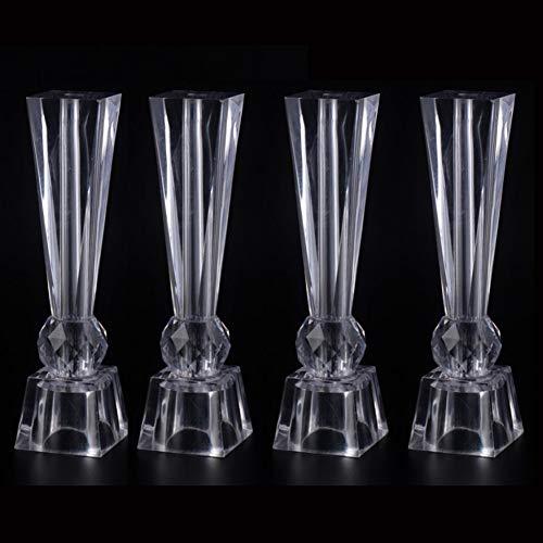 Möbelbeine × 4, Glas Couchtisch Möbel Stützbeine, Acryl Kristall Tischbeine können Gewicht tragen (300㎏ / 4 Stück) / D/S