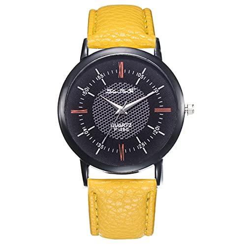 Libartly Reloj De Pulsera De Cuarzo Estrenar F365 Gun Color Shell Cinturón Reloj De Cuarzo para Mujer Amarillo Moda Popular Nice Sweety Gift - Amarillo