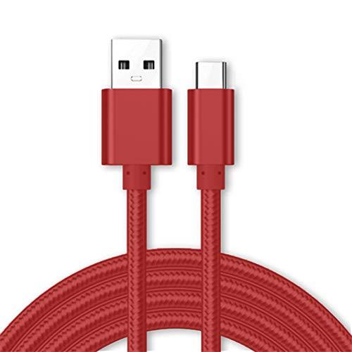 World Biz Lenovo S5 Pro GT - Cable de carga micro USB tipo C (3,1 A, carga rápida, cargador trenzado de nailon y cable de sincronización de datos [USB 3.0] [transferencia de datos de hasta 5 Gb/s] - TODO