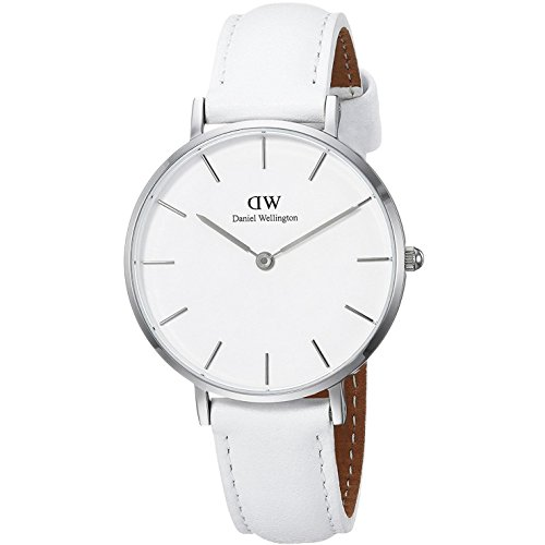 Daniel Wellington Damen Analog Quarz Smart Watch Armbanduhr mit Leder Armband DW00100190