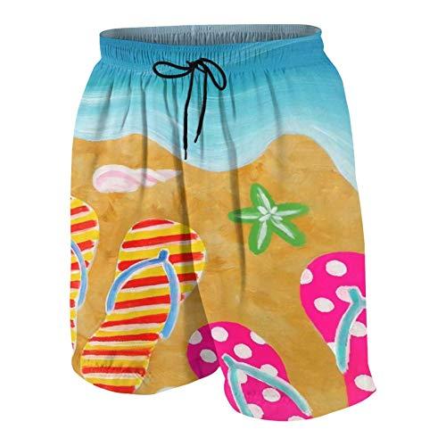 De Los Hombres Casual Pantalones Cortos,Zapatillas de Verano para Mujer,Secado Rápido Traje de Baño Playa Ropa de Deporte con Forro de Malla