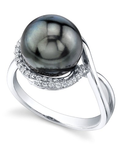 The Pearl Source - Collana di perle di acqua dolce da 7-8 mm, in oro 14 k, 45 cm, Oro bianco, cod. 1