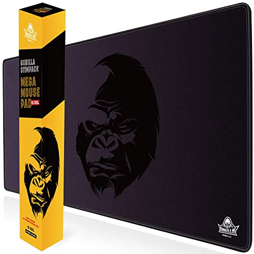 GORILLA STIMPACK 3XL Huge Mouse Pads Oversized Giant Mouse Pad (48''x24''x0.2'') - XXXL Extended Mousepad Full Desk Mat Suitable for Gamers - Purple Black