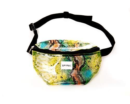 Spiral Transparent - Snake Bum Bag Sac Banane Sport 23 Centimeters 2 Multicolore (Multicolour)