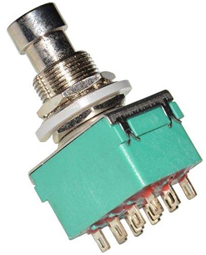 DIY Pedal Gear Parts® - 2 pulsadores 4PDT para pedal conmutador, efectos para guitarra eléctrica, automontaje