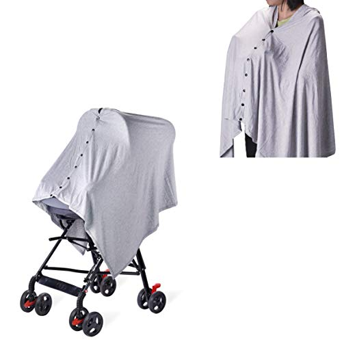Baby Nursing Cover & Nursing Poncho - Multi Use Cover for Baby Car Seat Canopy, Shopping Cart Cover, Stroller Cover, Infinity Scarf 360° Privacy Breastfeeding Protection,Baby Shower Gifts for Boy&Girl