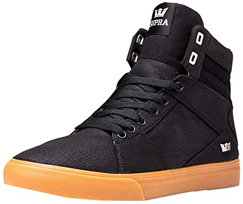 Supra Aluminum, Scarpe da Skateboard Unisex – Adulto, Nero (Black-Gum-M 38), 42.5 EU