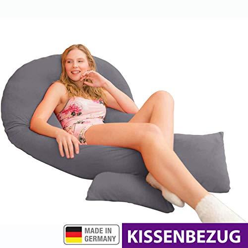 Traumreiter Kissenbezug für Jumbo XXL und Visco XXL Seitenschläferkissen (Graphitgrau)
