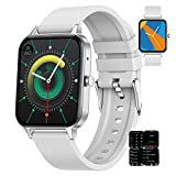 BNMY Orologio Smartwatch Donna Chiamate Bluetooth 1.69' HD Full Circle Display Orologio Fitness Impermeabile IP67 con Pedometro Cardiofrequenzimetro Sportive Activity Tracker per iOS Android,Grigio