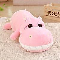 大きな白い歯カバ人形スリーピングピローかわいい超大型ぬいぐるみぬいぐるみ布人形赤ちゃんの子供の誕生日プレゼント-85Cm_Pink