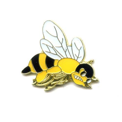 Wespe Wasp Wesp Vespa Guepe Insekten Metall Button Badge Pin Anstecker 0412