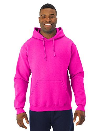 Jerzees 8 oz. NuBlend 50/50 Pullover Hood, Neon Pink - X-Large