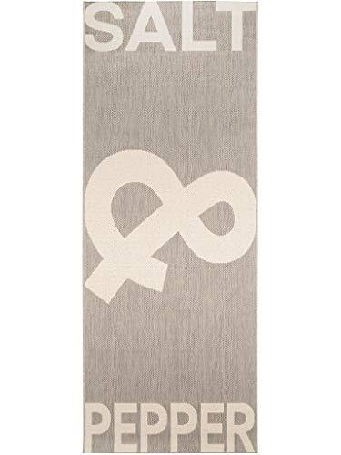 benuta Küchenläufer Salt & Pepper Grau 80x200 cm | Pflegeleichter Teppich geeignet Küche und andere Wohnräume