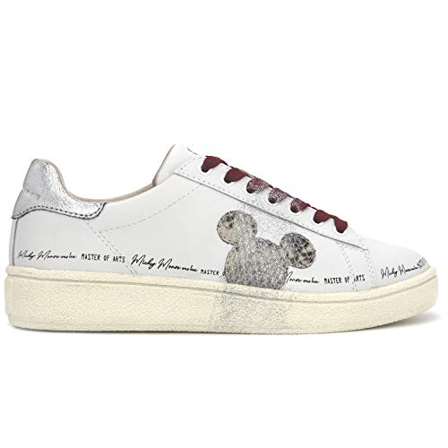 Moa Sneaker Disney Grand Master mit Python-Mickey - MD457 35 - Gr., Weiß - Bianco - Größe: 39 EU
