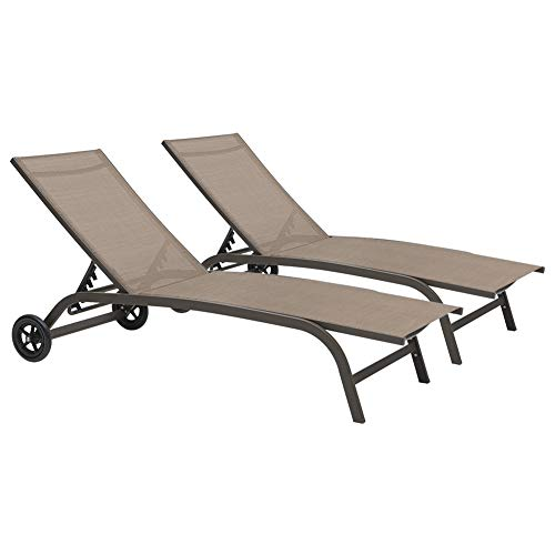 Crestlive Products Adjustable Chaise Lounge Chair...
